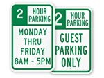2 Hour Parking Signs