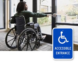 ADA Accessible Entrance Signs
