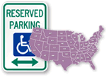 ADA Handicap Parking Signs by State