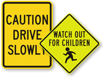 All Children at Play Signs