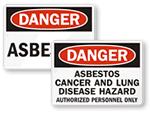 Asbestos & Cancer Signs