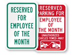 Award Parking Signs