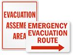 Big Evacuation Signs