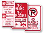 Bilingual No Parking Signs