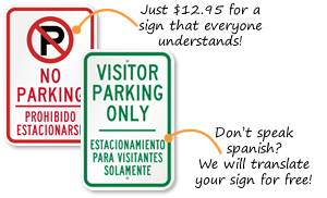 Bilingual Parking Signs | Spanish Parking Signs
