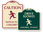 Designer Children at Play Signs