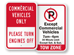 Commercial Vehicles Parking Signs
