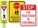Crosswalk Safety Signs