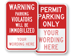Custom Auto Boot Parking Signs