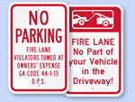 Custom Fire Lane No Parking Signs