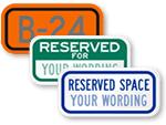 Custom Parking Space Signs