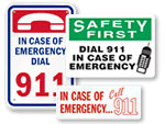 Dial 911 Signs