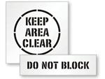 Do Not Block Pavement Stencil
