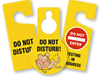 Do Not Disturb - Door Knob Tags