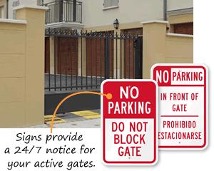 Do Not Block Gate Signs