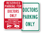Doctor Parking Sign