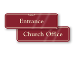 Door Signs for Church Offices