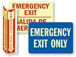Emergency Glow-in-the-Dark Signs