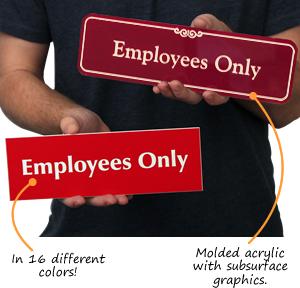 Employees Only Door Signs
