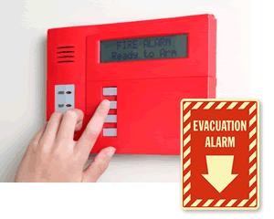 Evacuation Alarm Signs