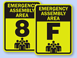 Fluorescent Assembly Area Signs