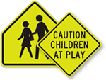 Fluorescent Child Safety Signs