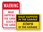 Funny Garage Signs