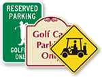 Golf Cart & Club House Parking Signs