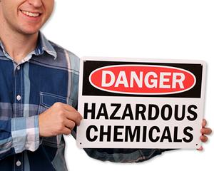 Hazardous Chemicals Signs