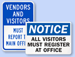 Visitor Sign-In Signs