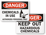 Keep Out Hazardous Chemical Signs