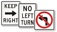 Left & Right Turn Signs