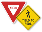 Yield Signs for Parking Lots