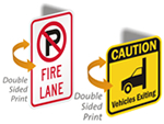 Double Sided Mini Traffic Signs