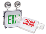 Combination Exit Signs and Emergency Lighting