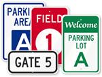 School Parking Area Signs