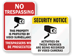 Parking Security Signs