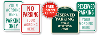 Quote for Parking Signs