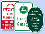 Parking Signs with Logos