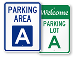 Parking Area Signs