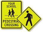 Pedestrians Crossing Signs