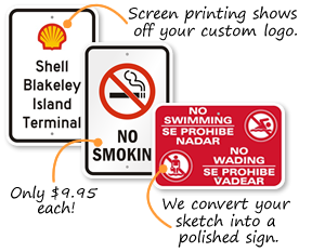 Stock and Custom Plastic Parking Signs