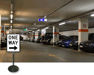 Portable One Way Signs