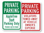 Private Parking Signs