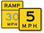 Ramp Speed Limit Signs