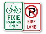 Bike Parking & Rules Signs