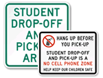 School Drop Off Signs