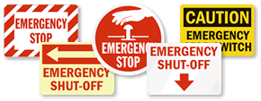 Emergency Shut-Off Signs – All Designs