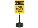 Sign Stand for Speed Bump Signs