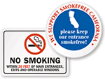 Official California No Smoking Signs